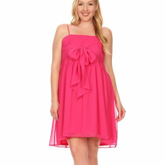 Fuchsia Plus Size Dress Boutique